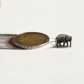 The smallest 3d drawing in the world by RamonBruin