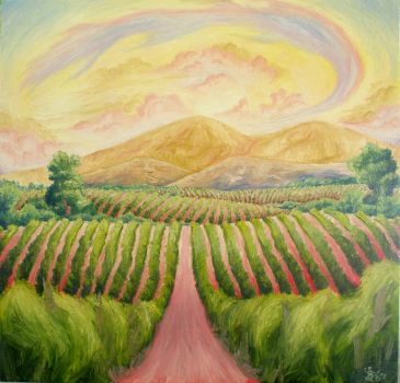 Early Morning Vineyards (Commission - Sold) by Dunn95
