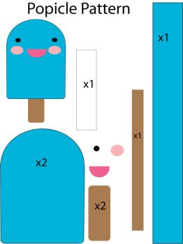 felt plushie templates - food on plushie database deviantart