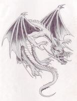 Dragon tattoo by lordofthezombies