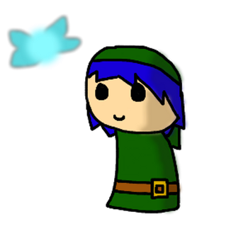 new chibi Link-D by crystall0veslink