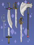 Leif and Thorn - Weapons by ErinPtah