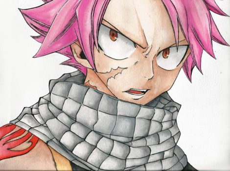 Natsu Dragneel -  I'll Burn You Into Ashes!! by PicaBella