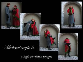 Medieval couple 2 stock pack by Mithgariel-stock