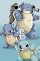 Squirtle Evolution by ItzAmandaYay