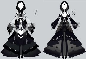 monocrhomatic outfit adoptable CLOSED by AS-Adoptables