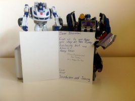 Gift: Soundwave and Jazzy Xmas by TFP-Steeljaw