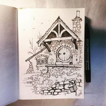 Instaart - One of the buildings in Shire by Candra