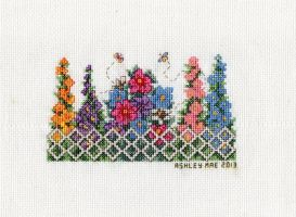 Floral Delight - Lattice Fence by pinkythepink