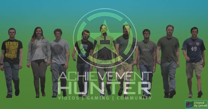 Achievement Hunter Silhouette poster alternate by spiral6sm