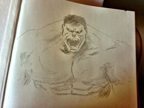 Hulk Sketch by eightythird