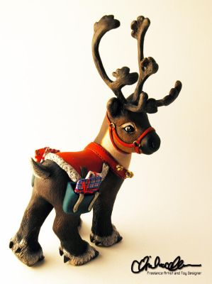 Prancer the Reindeer Custom MLP by thatg33kgirl