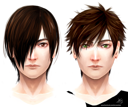 Hunter Brothers Coloring by arcanehalo