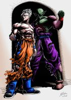 Mystic God Gohan and Namekian God Piccolo by JustGeoffsArt
