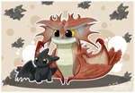 Toothless & Cloudjumper by Isi-Daddy