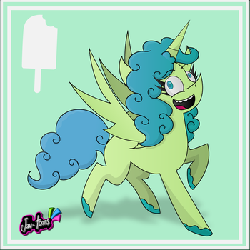 Popsicle the alicorn by Jav-toons