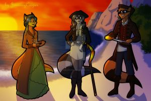Sibling Thieves in Time - Golden Age of Piracy by JennissyCooper