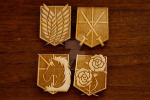 -Etsy- Attack on Titan Insignia Badges by Nortiker