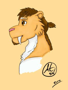 Kyle with Man Ponytail by ArtGuy404