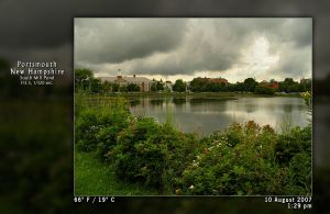 Thick Clouds Over the Pond - 2 by PhotographyByIsh