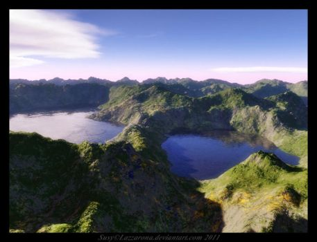 Terragen - mountains by Lazzarona