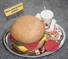 Burger Cake by elainewhy