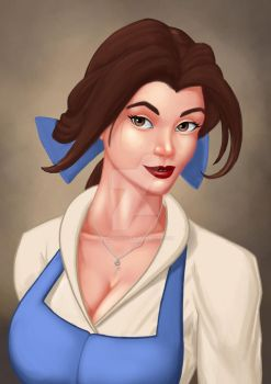 Belle WIP by TheArtofAdam