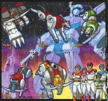 Voltron 5 Card Puzzle by ryanorosco