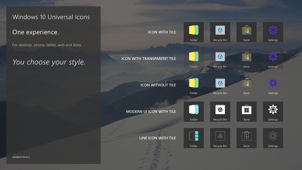 Windows 10 Universal Icons (feature suggestion) by nik255