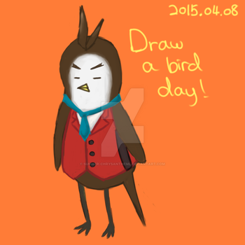 Apollo Justice as a bird by Summer-Chrysantheml