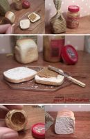 Miniature: Peanut butter and Bread by fiat500S