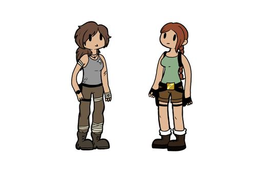 What if Old and New Lara met? by CoksTheDragon