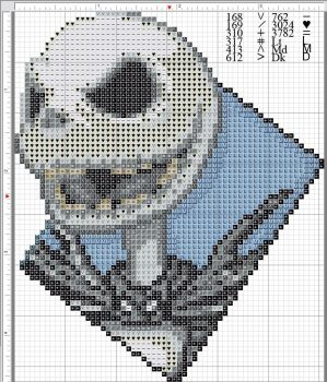 Jack Skellington Pattern by kyotiutsukushii