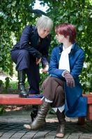 Cosplay: Prussia and Austria by SailorAnime