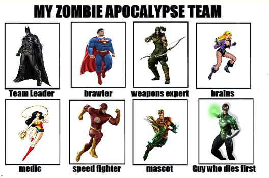Dc Zombie Team by Rilleysuniverse