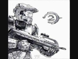 Halo 2 drawing by Dempsey12