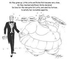 Little Lotta and Richie Rich by Bigggie