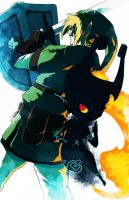 Link and Midna by Eemari
