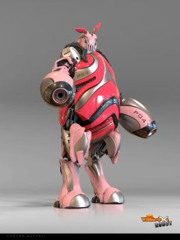 Piglet the Robot by CarlosDattoliArt