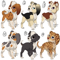 Draw To Adopt: Canines, Set 1 (All Reserved) by infiniteadoptions