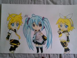 Vocaloid Poster Drawing by Miku-chan9