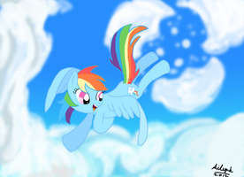 Dash clearing sky by Ailynd