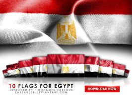 10 Flags For Egypt by zakzak008