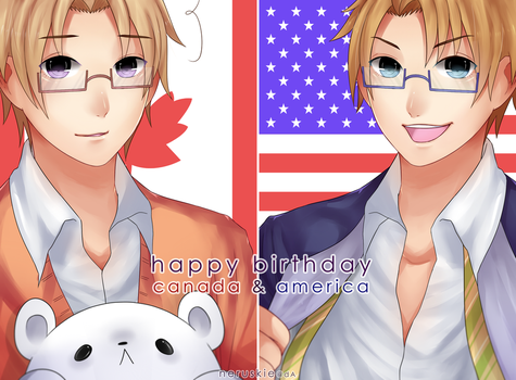 .:aph:. happy birthday NA brothers! by neruskie