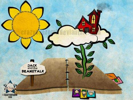 Jack and the Beanstalk-Layout by crazyoveromi