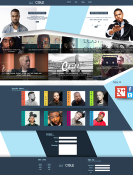 Cole - Second Website by BarneyDesign