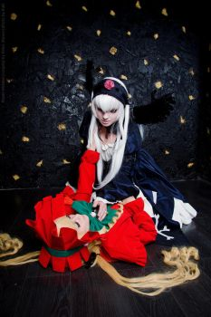 Rozen Maiden.Suigintou and Shinku.Love and Hate by KirikoSan