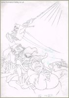 The Pagemaster original production drawing by AnimationValley