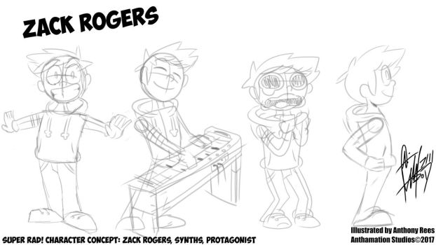 Super Rad! Character Concept: Zack Rogers! by Anthamation