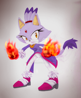 Blaze the cat by Mizukiee